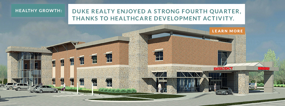 Duke Realty reports strong healthcare facility development activity